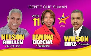 Candidata a regidora por el PLD Ramona Decena exhorta votar por Nelson Guillèn