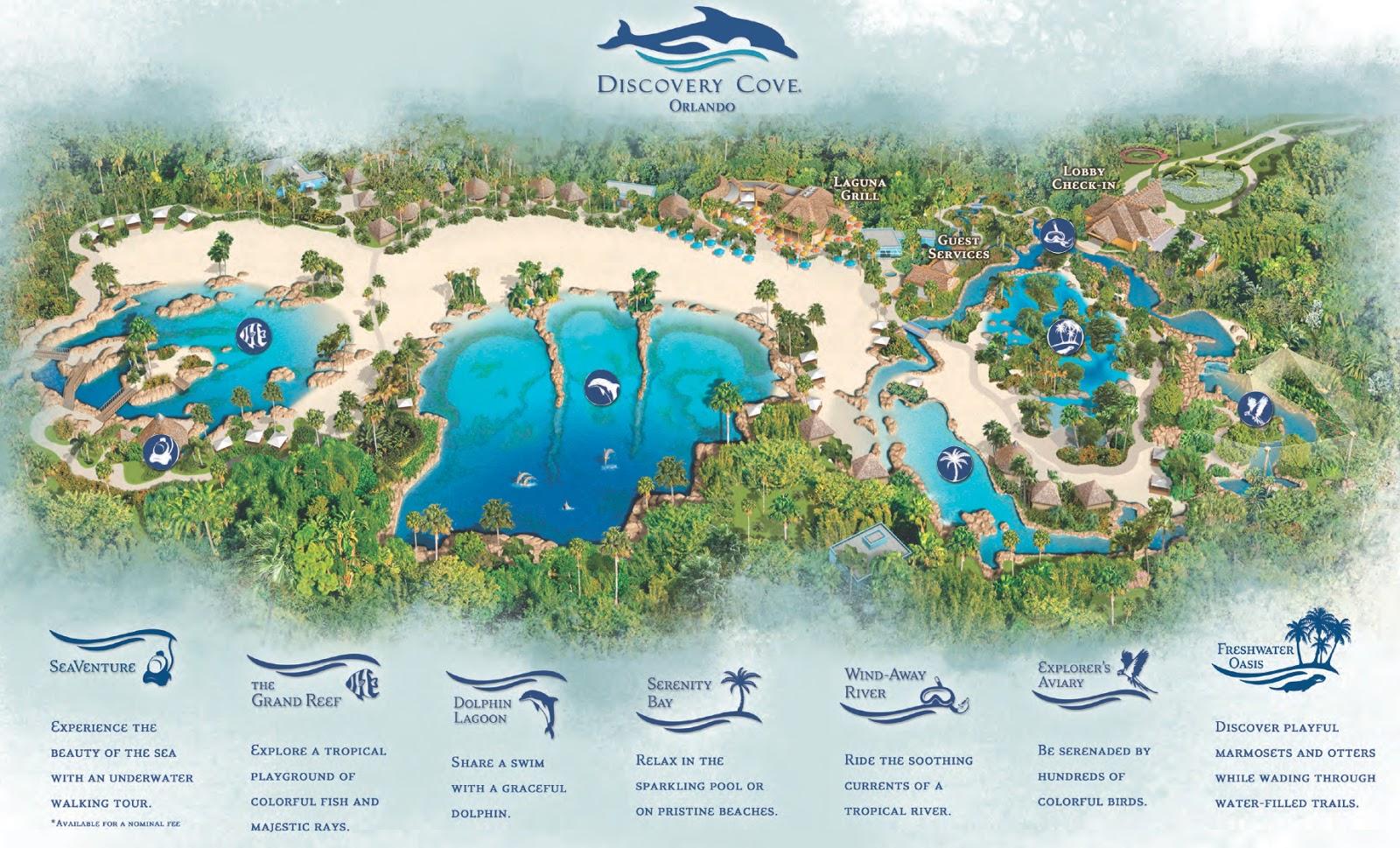 Mapa Discovery Cove Orlando