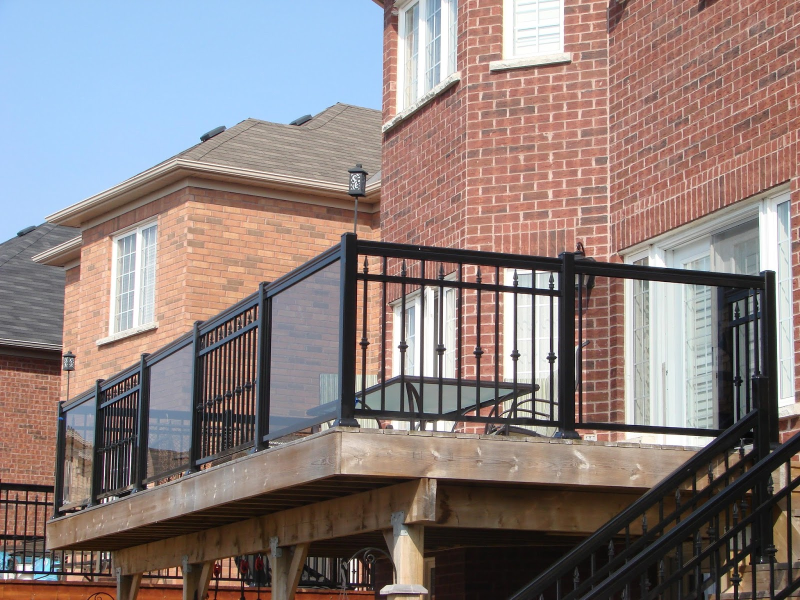 railings series railing posts products style porch stone level aluminum rail columns millwork a worthington straight kit