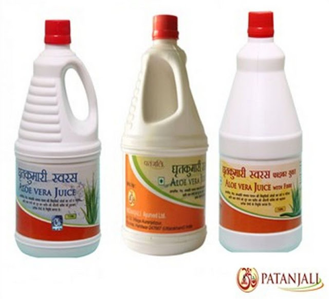 Patanjali Aloe Vera Juice With Fiber & Orange Flavor