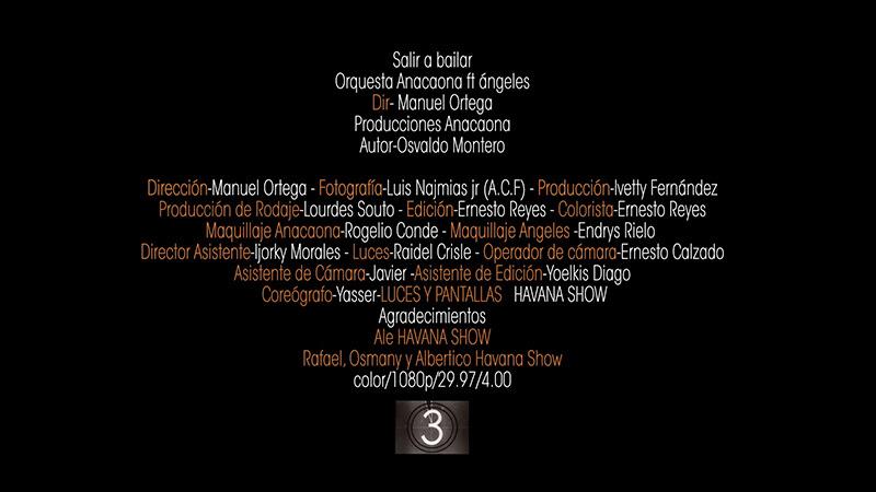 Orquesta Anacaona Ft. Ángeles - ¨Salir a bailar¨ - Videoclip - Dirección: Manuel Ortega. Portal Del Vídeo Clip Cubano - 10
