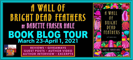 A Wall of Bright Dead Feathers book blog tour promotion banner