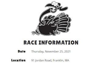 Franklin Turkey Trot - Nov 25, 2021 - Registration is Open