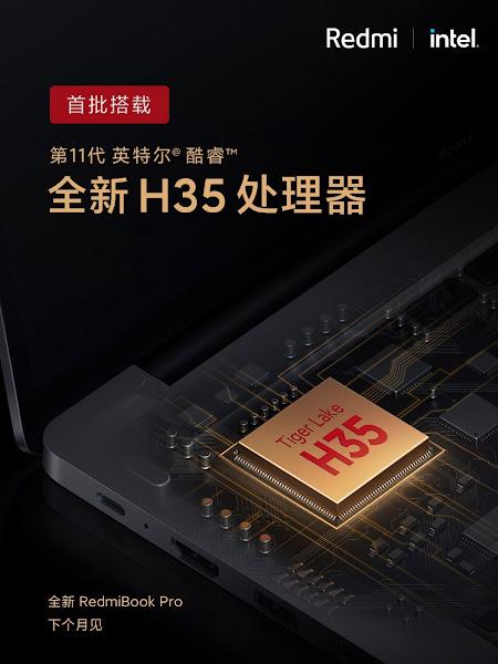 Xiaomi trará novo RedmiBook Pro com Intel Core de 11ª geração