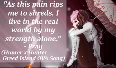 hunter x hunter, greed island ova, anime, pray, wish, manga, songs, quotes analysis