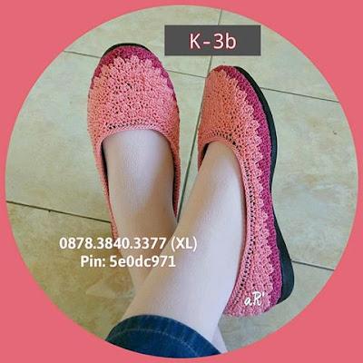 Sepatu Rajut Wanita Terbaru Model Kombinasi Warna ~ 0878.3840.3377 (XL)