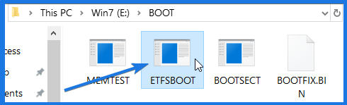 Boot Image File ETFSBOOT