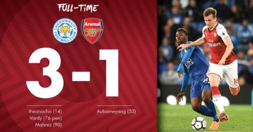 Leicester City vs Arsenal 3-1 Highlights - Liga Inggris