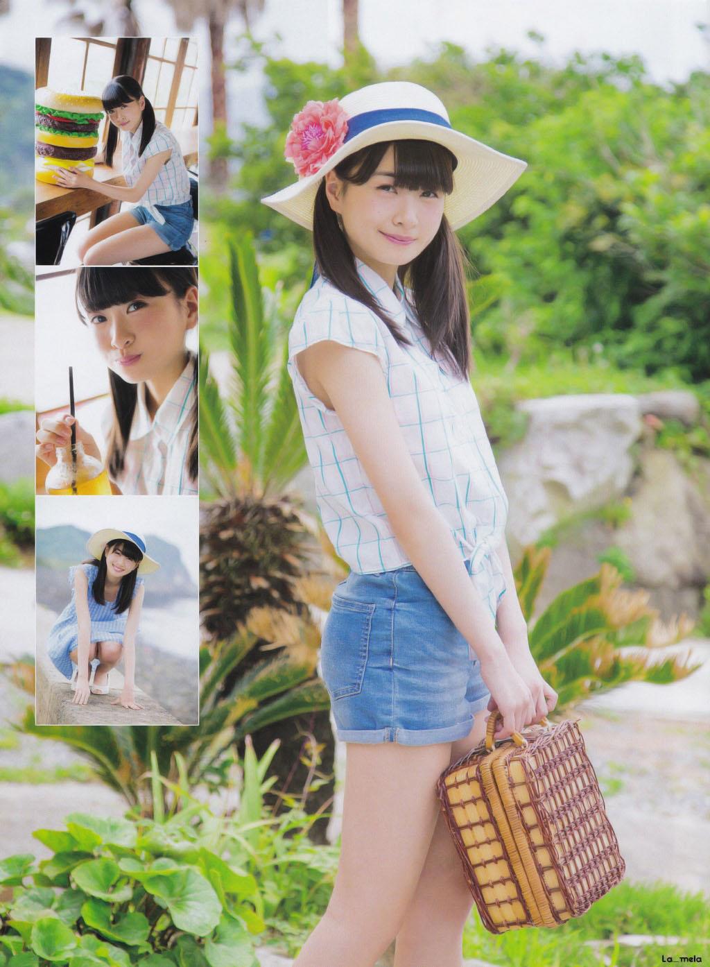 Matsuoka Hana 松岡はな HKT48, Monthly ENTAME 2016.08 Gravure