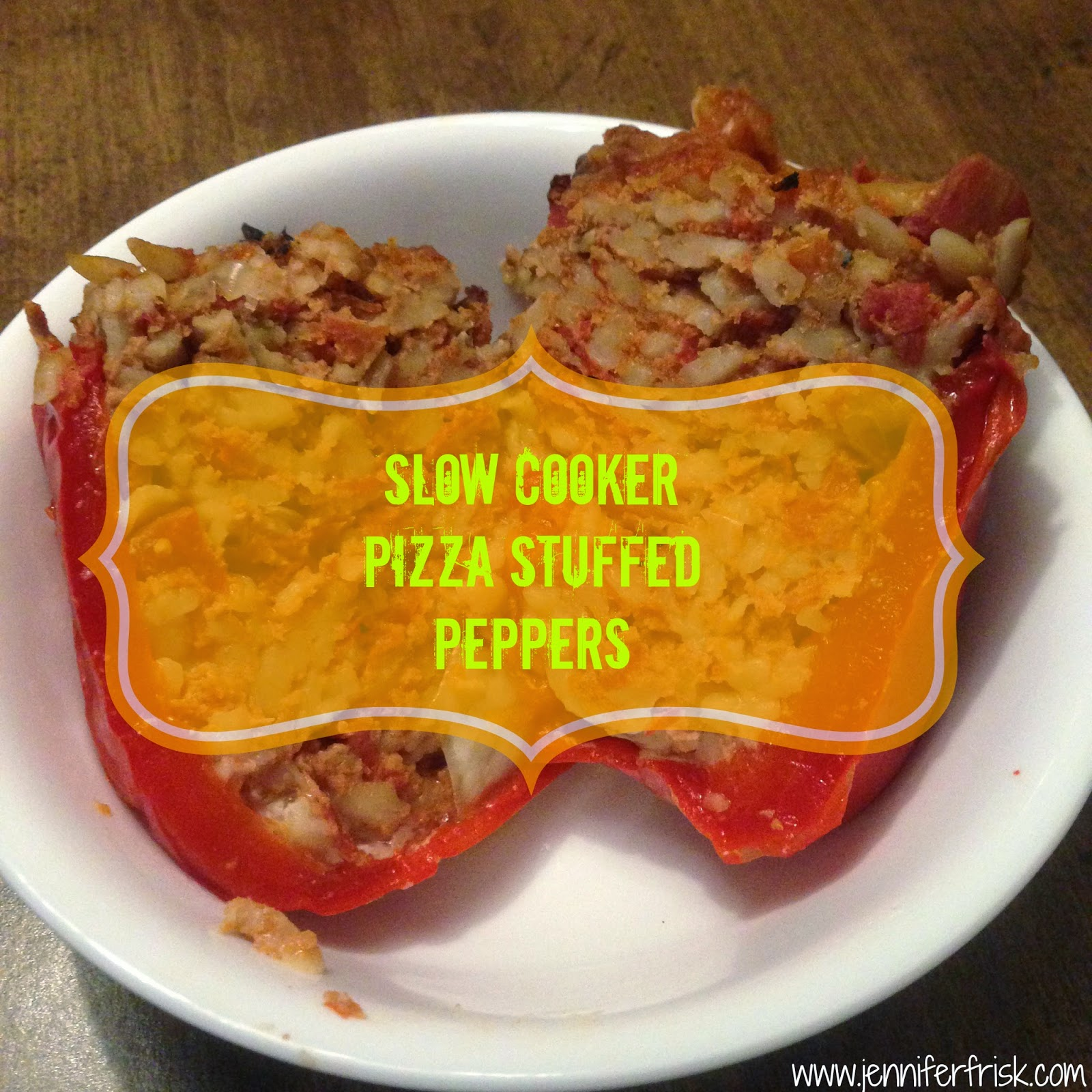 Slow Cooker Pizza Stuffed Peppers