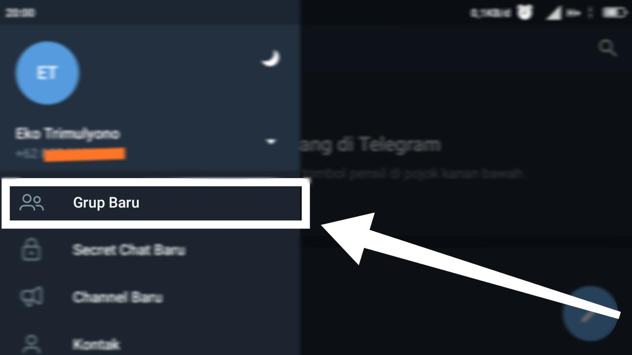 cara kirim pesan di grup telegram