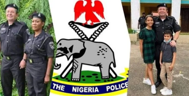 """""""They will corrupt him"""" – Nigerians react as a white man reportedly joins Nigeria Police Force"""