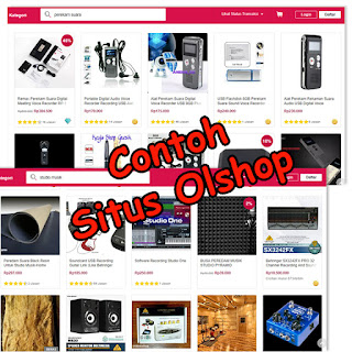 screenshot contoh situs online shopping