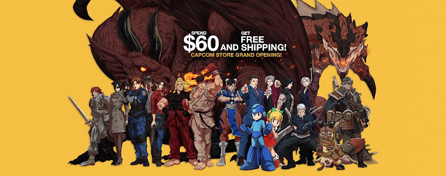 CAPCOM Store Grand Opening Dragon's Dogma Monster Hunter Resident Evil Street Fighter Ace Attorney Devil May Cry