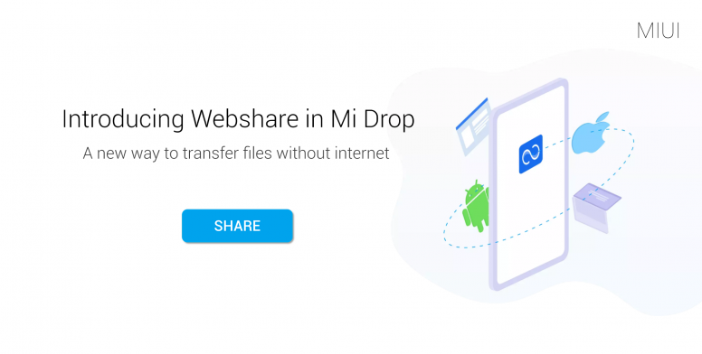 Webshare on Mi Drop: A New Way To Transfer Files Without Internet