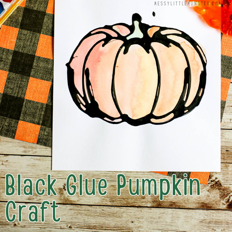 black glue pumpkin craft