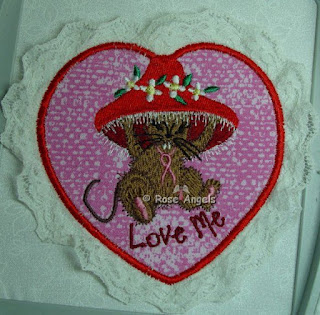 Valentine Mouse applique 4x4