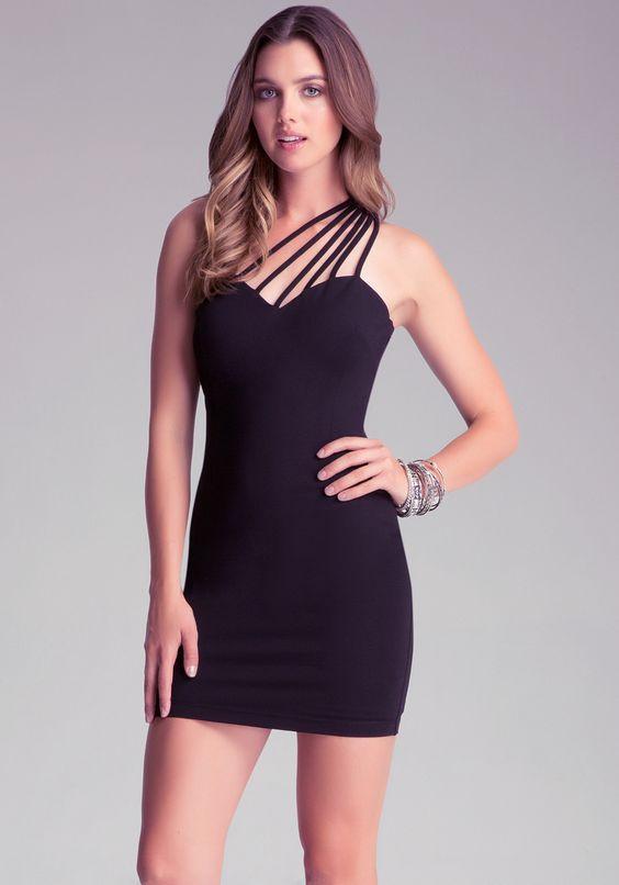 Optimization - One Shoulder Dress in Black