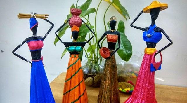Keralite Sreelatha Digging into Artistic Wonders on Lockdown Time