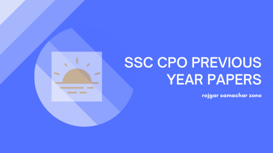 ssc cpo previous year question papers