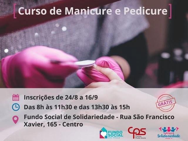 Fundo Social de Solidariedade de Registro-SP abre inscrições para curso de manicure e pedicure