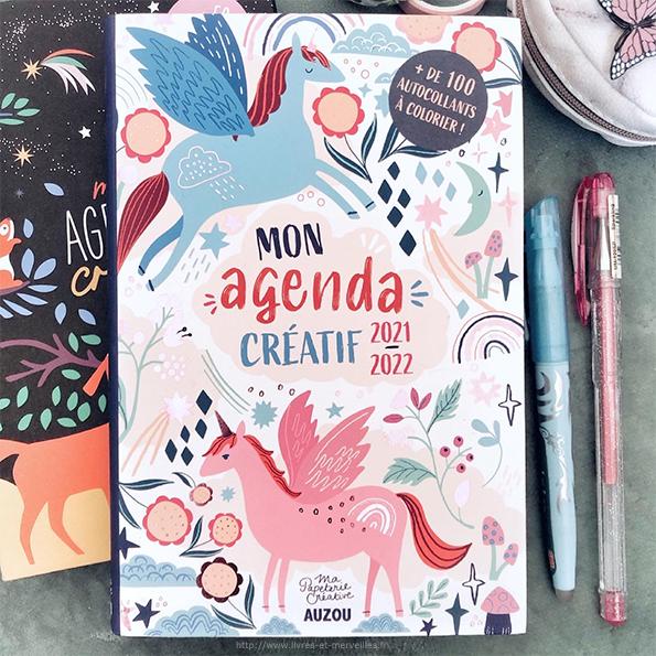 Mon agenda créatif 2021-2022 - éditions Auzou