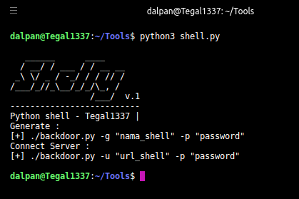 Shelly - Simple Backdoor Manager With Python