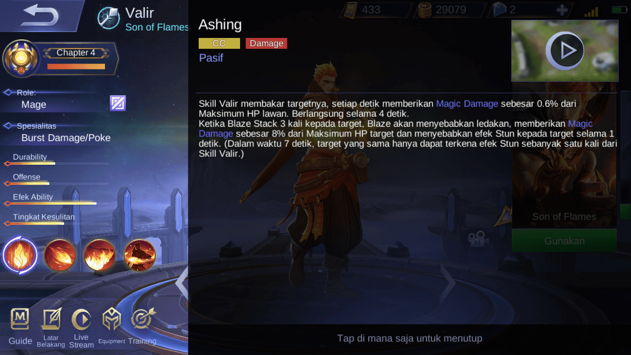 Setelah Revamp, Akankah Valir Mobile Legends Jadi Hero Favorit? 1