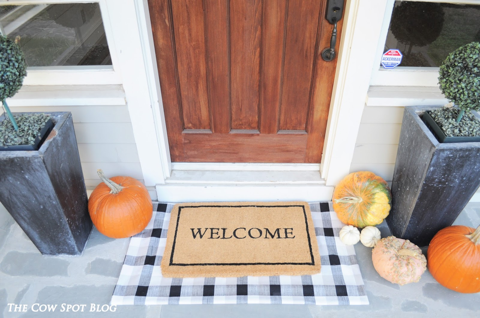 Fall Front Porch Diy Buffalo Check Door Mat