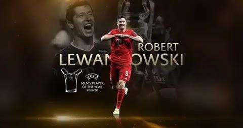 Lewandowski named UEFA mens player of the year