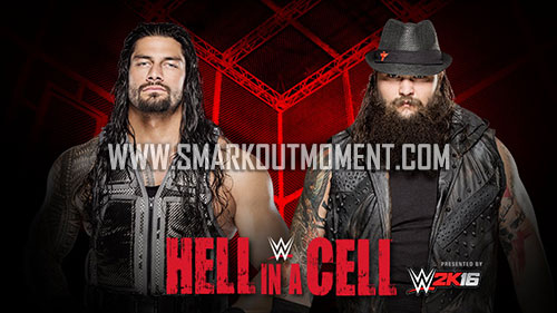 WWE Hell in a Cell Match 2015 Wyatt vs Reigns winner