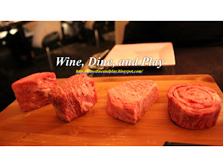 Certified A5 Wagyu meat cuts at 5A5 Steakhouse in San Francisco, California