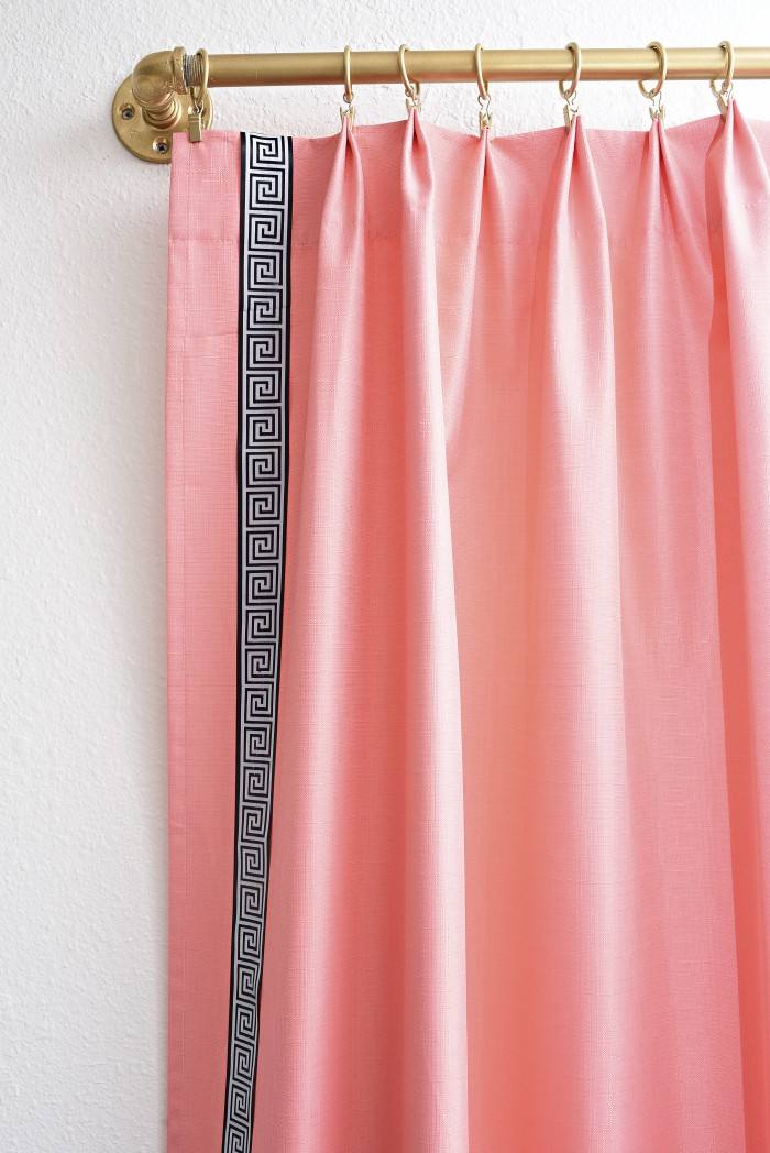 You must check out this tutorial for how to DIY curtains/drapes featured in the Ballard Designs & Eddie Ross collaboration. You can save almost $200 a panel- super easy, no sew tutorial. The curtains are gorgeous!