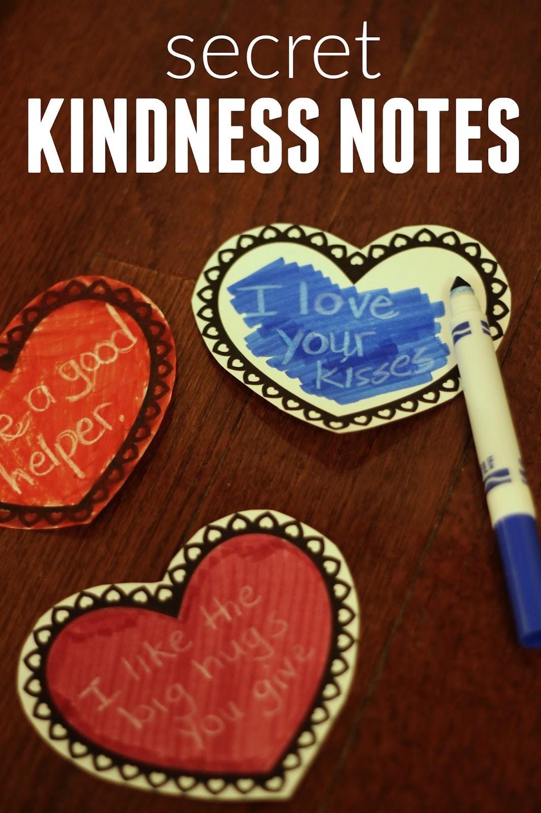 Toddler Approved Secret Kindness Notes