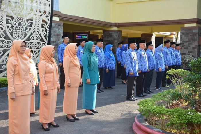Wakil Walikota Metro Pimpin Upacara HUT Korpri -48