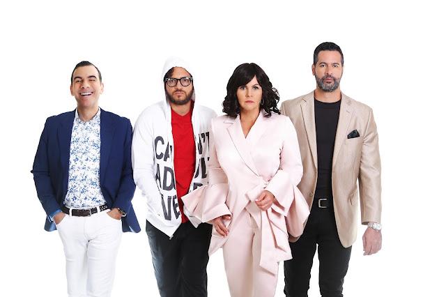Actores de la Obra¨7 Años¨. Jose Roberto Diaz, Brian Payano, Gianni Paulino, Amauris Perez.