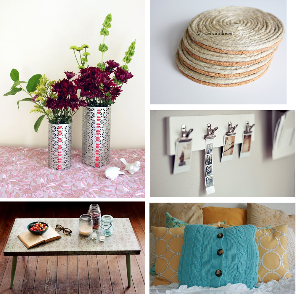 Little Decor Ideas To Make At Home: Simple Projects Week: Roundup