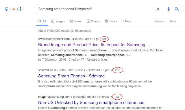 Search google using filetype:pdf