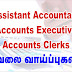 Vacancies for Assistant Accountant | Accounts Executive | Accounts Clerks (Male/Female)