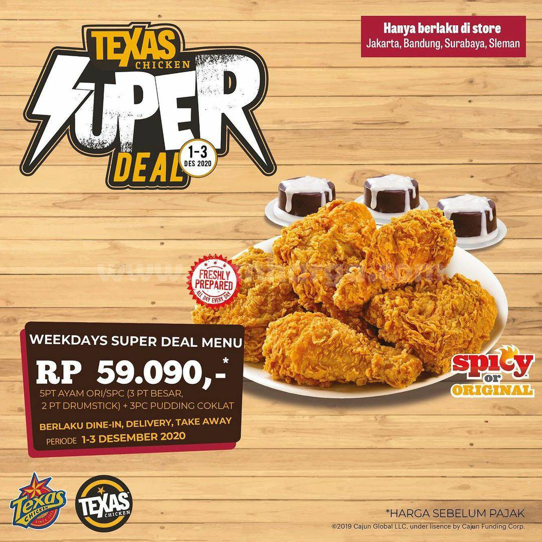 Texas Chicken Promo Weekday Super Deal Menu cuma Rp 59.099*