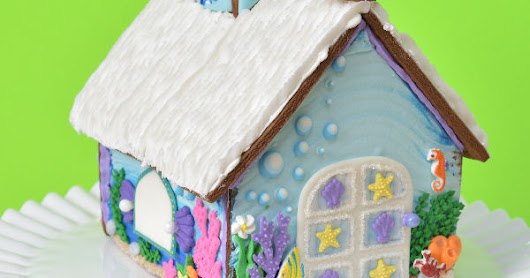 Disney Little Mermaid Gingerbread House