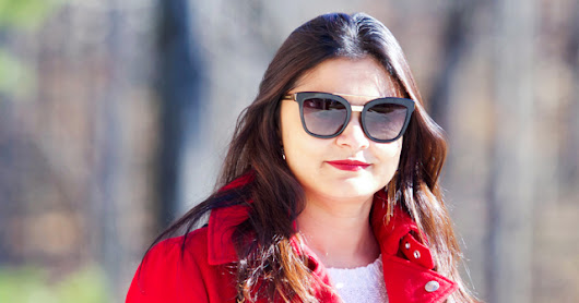 Wearing a Red Coat for the Holiday Season: Outfit of the day