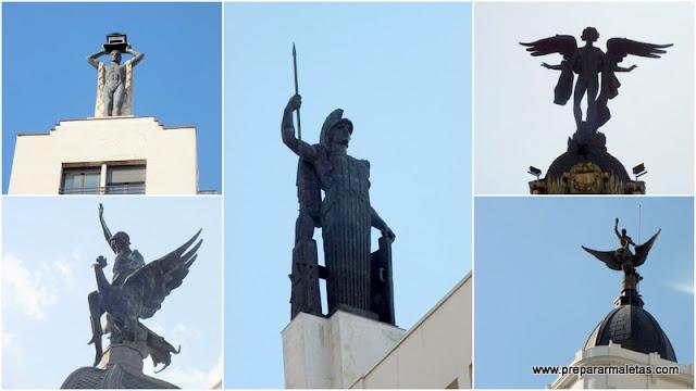 estatua edificios madrid