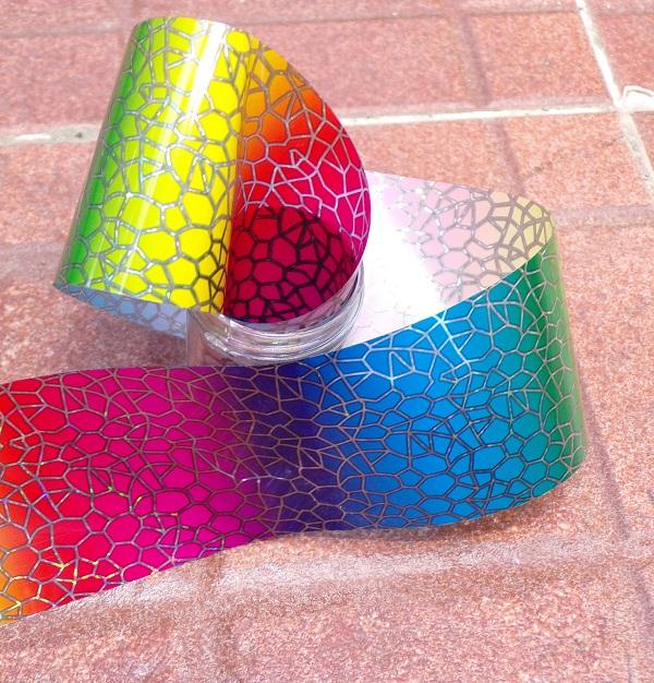 #manicuras foil holográfico