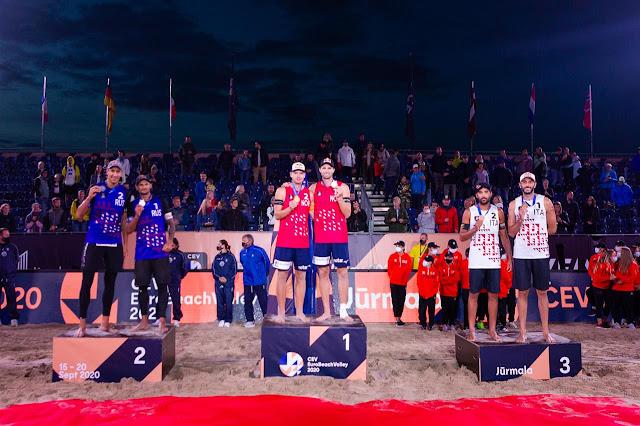 Campeonato de Europa masculino 2020 (Jurmala, Letonia) - Tercer cetro europeo seguido para Mol y Sorum