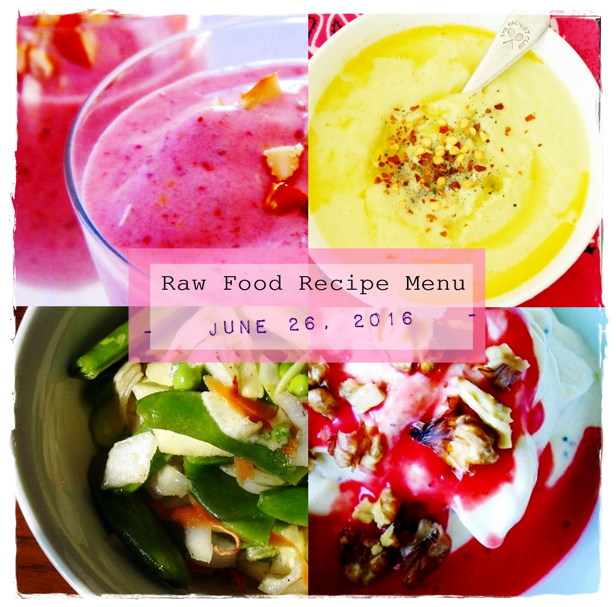 Raw on 10 a day or less raw food recipe menu june 26th 2016 forumfinder Images