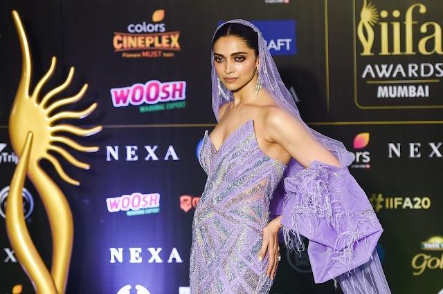 Actress Deepika Padukone Hot at IIFA 2019