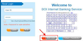 net banking for boi