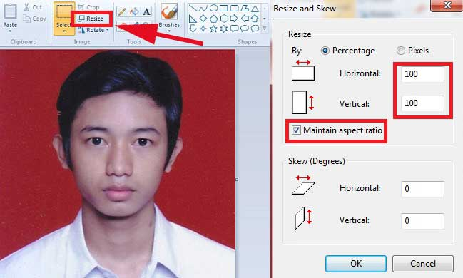 Cara Mudah Mengecilkan Ukuran Foto Dengan Paint Di Laptop Windows 7 Nggatekno