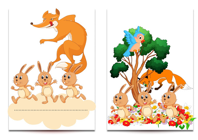 مشروع قصة الثعلب والارانب